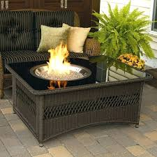 gas fire pit wood deck natural
