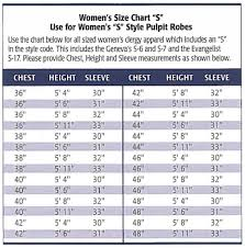 Church Supplies Clergy Apparel Sizing Info More