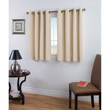 Short Length Bedroom Curtains Ricardo Trading Elegance Insulated Thermal Single Short Curtain
