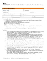 Free Administrative Staff Performance Appraisal Templates At