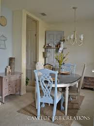 Light Blue Dining Table