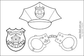 Small Picture Police Badge Coloring Page Coloring Pages For Kids And For