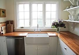 Traditional Kitchen Decoration With Red Oak Butcher Block Countertops On  IKEA Apron Front Ceramic Sinks Ikea Apron Front Sink O51
