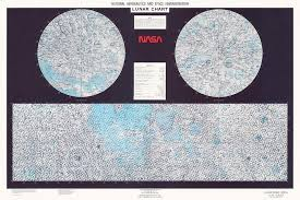 Moon Chart Lunar Chart From 1979 By Nasa