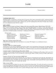 Examples Of Resumes Standard Resume Sample Download