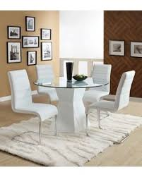 brighten up any dining room with this contemporary round gl dining set the table sits