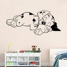 Small Picture Cute Sleeping Dog Wall Stickers Bedroom Living Room Decorative
