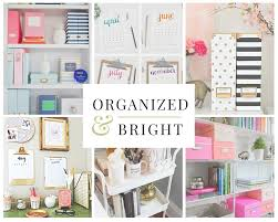 Cool things for your office Interior Organized And Bright Desk Solutions Punched Clocks How To Stay Organized At Your Desk Desk Organization Tips