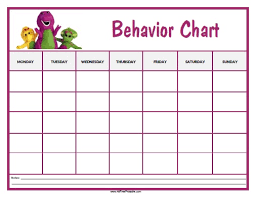 Barney Behavior Chart Free Printable Allfreeprintable Com