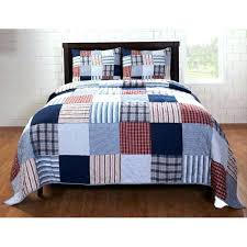 red and blue bedding red white and blue plaid quilt red blue patch 3 piece quilt set red and