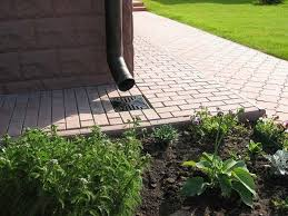 2 drainage system installation lawn gutter downpipe