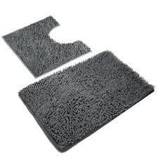 Amazon.com: VDOMUS Absorbent Microfiber Bath Mat Soft Shaggy ...