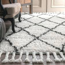 gray and white rug hand knotted wool off white dark grey area rug grey and white