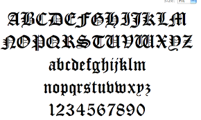 black letter font black letter font crna cover letter