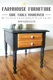 Old Furniture Makeover Oak Nightstand And Dresser Before Painting