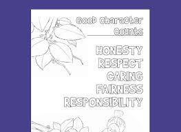 Free Coloring Pages For Character Education And Social Skills Lessons