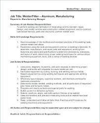 Fabricator Welder Sample Resume | Ophion.co