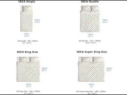 Ikea Bedding Sizes Chart King Size Mattress Size Measurements In Cm Youtube