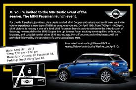new car launches eventsNext Events Swap Meet and Mini Paceman Launch  Victoria Minis