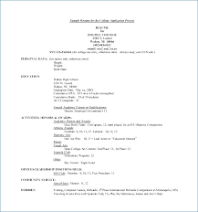 education high school resume resume for college admissions example ceciliaekici com