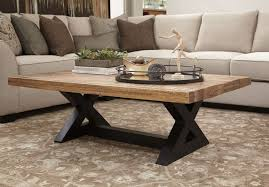 denver metal wooden coffee table