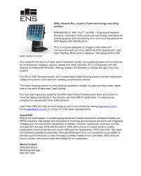 Press Releases Ensens Engineered Network Solutions