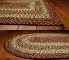 endearing braided rugs 8x10 of pumpkin pie oval cotton rug primitive star quilt