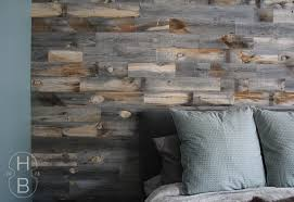 stunning master bedroom diy feature wall with stikwood weathered wood house by the bay design with stikwood