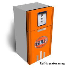 refrigerator gas. gulf gas pump refrigerator wrap n