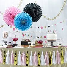 pink hanging tissue paper fans diy backdrop baby shower curtains full size