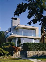 home chimney design. modern two-story glass exterior home idea in vancouver chimney design a