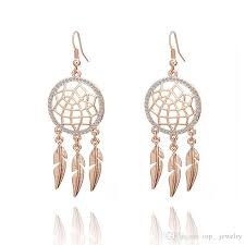 Dream Catcher Earings Inspiration 32 Hot Sale Hollow Dream Catcher Earrings Women'S Gold Plated