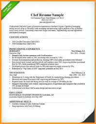 Sous Chef Resume Template Fascinating Resume Templates For Cooks Cooks Resume Line Cook Resume Resume