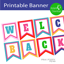 printable welcome home banner template free printables welcome back banner free printables banners and