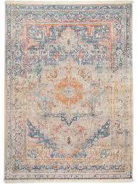 Der Wunderschöne Vintage Teppich Safira Blau Lässt Sich
