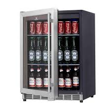 built in beverage cooler. Exellent Built 24 Inch Width Under Counter Beverage Cooler Glass Door With Stainless Trim   Kingsbottle KBU50BSS Throughout Built In Cooler F