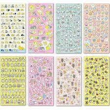 <b>4 Pcs</b>/set Kawaii Cake Fruit <b>Animal</b> Plastic Name <b>Stickers</b> ...