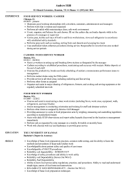 Food Service Worker Sample Resume Food Service Worker Resume Samples Velvet Jobs 13