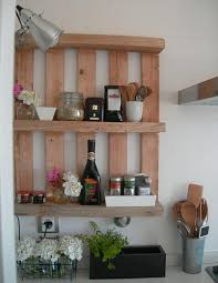 Pallet Furniture Kitchen Furniture Attractive Wood Pallet Kitchen Wal Sheves With Black