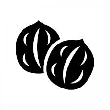 クルミのシルエット 無料のaipng白黒シルエットイラスト