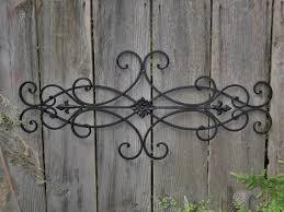 decorative outdoor wrought iron wall art