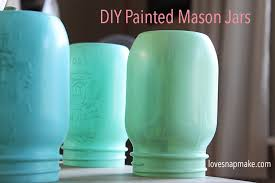 diy painted mason jar project with