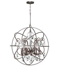 crystal branches burnt bronze chandelier lamp crystorama traditional 5 light english bronze chandelier