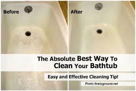 best way to clean bathroom. 1-clean-bathtub-finelyground-net-10 Best Way To Clean Bathroom Home Tips World