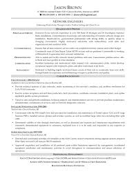 Sample Resume Format For Experienced Network Engineer Inspirationa