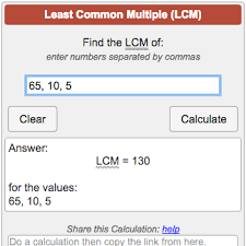 Lcm Calculator Least Common Multiple