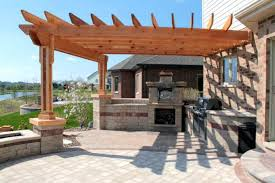 patio canopy gazebo small outdoor kitchen pergola ideas built in grill diy bui