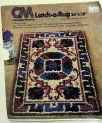columba mnerva latch hook rug canvas only mar full