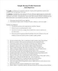 Objective Statement On A Resume – Armni.co