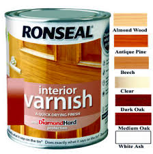 Ronseal Varnish Colour Chart Details About Ronseal 750ml Quick Dry Diamond Hard Matt Interior Wood Varnish In 7 Colours